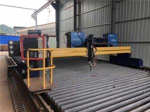 machine de découpe au plasma cnc automatisée entraînant deux rails de 15m de conduite de 4m