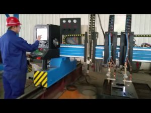 fabrication de métaux de machine de découpage de plasma de commande numérique par ordinateur de portique résistant automatisée
